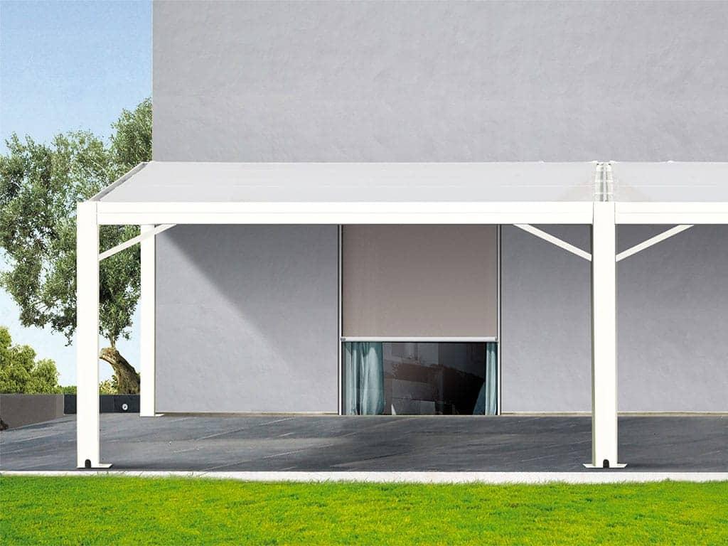 Gazebo da giardino tende verticali con barre in alluminio nel telo